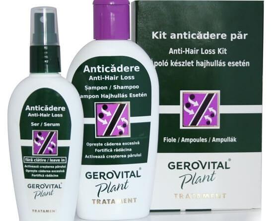 Gerovital Plant hajhullás esetén